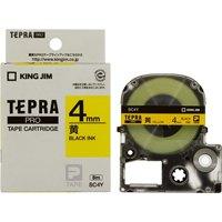 テプラPROテープ SC4Y 黄に黒文字 4mm