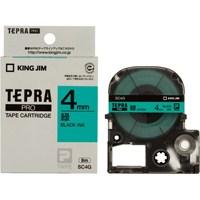 テプラPROテープ SC4G 緑に黒文字 4mm
