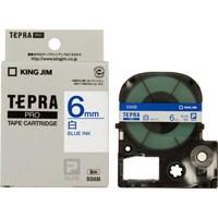 テプラPROテープ SS6B 白に青文字 6mm