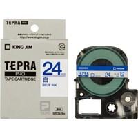 テプラPROテープ SS24B 白に青文字 24mm