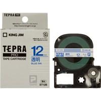 テプラPROテープ ST12B 透明に青文字 12mm