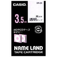 透明テープ XR-3X 透明に黒文字 3.5mm