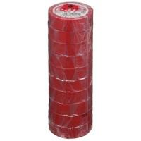 ビニールテープ NO200-19 19mm*10m 赤 10巻