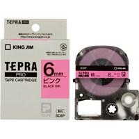 テプラPROテープ SC6P 桃に黒文字 6mm