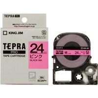 テプラPROテープ SC24P 桃に黒文字 24mm