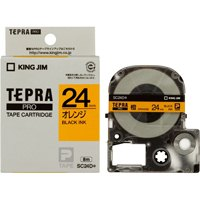 テプラPROテープ SC24D 橙に黒文字 24mm