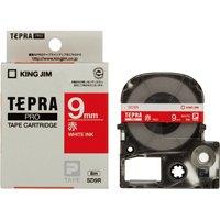 テプラPROテープ SD9R 赤に白文字 9mm