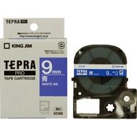 テプラPROテープ SD9B 青に白文字 9mm