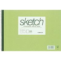 スケッチブック 画用紙 B5 厚口 SK410