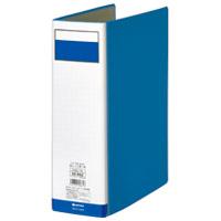 パイプ式ファイル片開き青10冊 D008J-10BL