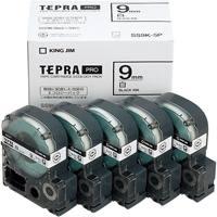 PROテープ SS9K-5P 白に黒文字 9mm 5個