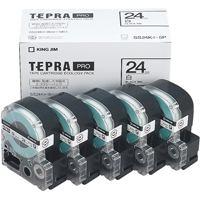 PROテープ SS24K-5P白に黒文字 24mm 5個