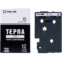 テプラTRテープ TC12S 白に黒文字 12mm