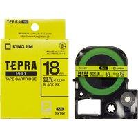 テプラPROテープSK18Y 蛍光黄に黒文字 18mm