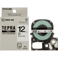 テプラPROテープ SS12K 白に黒文字 12mm