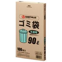 ゴミ袋 HD 半透明 90L 100枚 N045J-90
