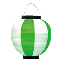ポリ提灯 40-7040 緑白