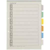 再生インデックスA4S 6色6山10組 D137J-6Y