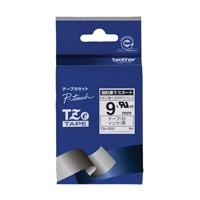強粘着テープTZe-S221白に黒文字 9mm