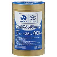 セロハンテープ15mm×35m10巻 B638J