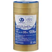 セロハンテープ18mm×35m10巻 B639J