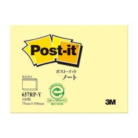 Post-it 再生紙ノート 657RP-Y イエロー