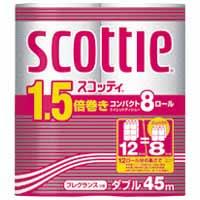 スコッティ1.5倍巻きコンパクト8ロール W