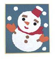 和紙でつくるちぎり絵ミニ 冬雪だるま