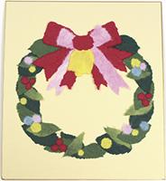 和紙でつくるちぎり絵大色紙冬クリスマス