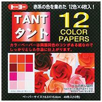 タント12 カラーペーパー15 68001 赤