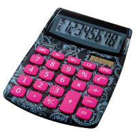 中型電卓<花柄>SPL-230PT2-JP