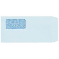 窓付封筒長3ブルー100枚テープ付 P029J-B