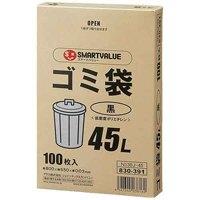ゴミ袋LDD黒45L 100枚*5箱 N138J-45P