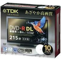 録画DVD-R DL215分ケース10枚 DR215DPWB10S