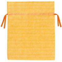 不織布リボン付き巾着袋 黄 LL 10枚 FK3041