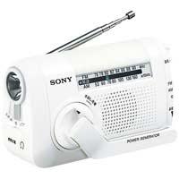 手回し充電ラジオ ICF-B08 W