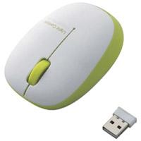 ワイヤレスLEDマウス M-BL20DBGN 白緑