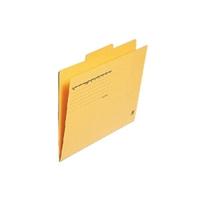 カットフォルダー 3山 FL-063IF A4 黄