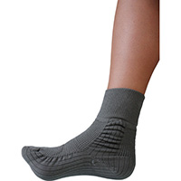 転倒予防靴下アガルーノ グレー22-23cm