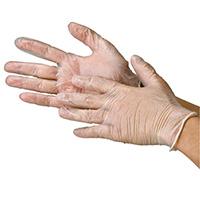 ビニール極薄手袋 粉つき 袋タイプS