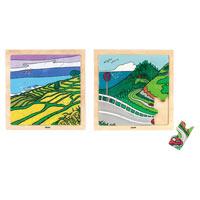 木のジグソーパズル3能登の千枚田/AS620