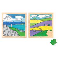 木のジグソーパズル4富良野の夏/AS630