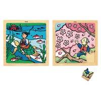日本の昔話木のジグソーⅡ浦島太郎 AS410
