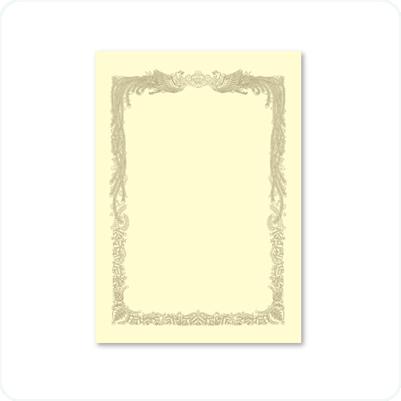 OA賞状用紙 クリーム(10枚入) A4横書用