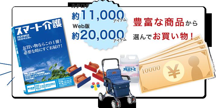 カタログ約11,000アイテム、Web版約20,000アイテム、豊富な商品から選んでお買い物!