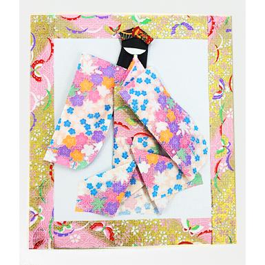 和紙人形でオリジナル壁飾り