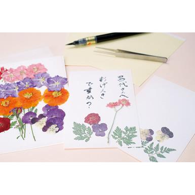 プロフィールカードを押し花はがきで作ろう!!