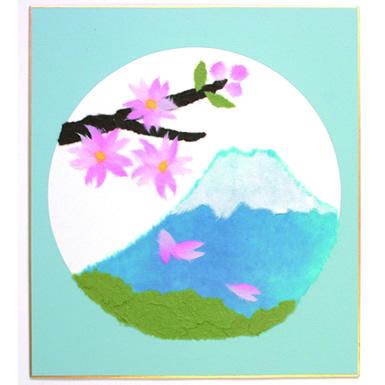 ~貼って楽しい・飾って嬉しい~季節を彩る和紙のちぎり絵を作ろう!!