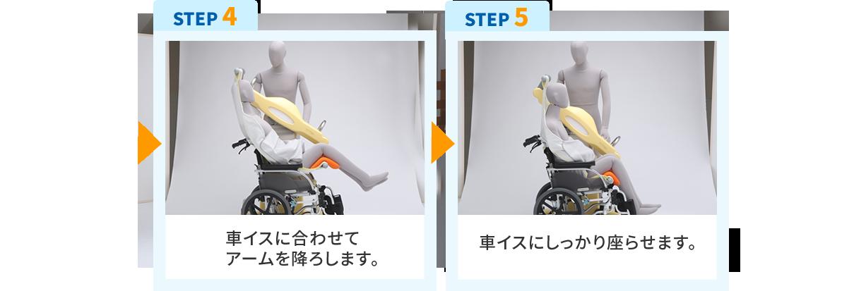 移乗のイメージSTEP4-5