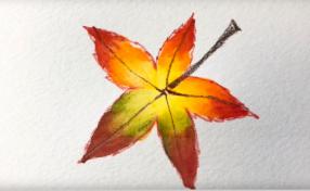 色鉛筆なのに水彩絵の具!?色鉛筆と水彩絵の具のよさを生かした特別アート